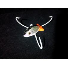 """Приманка """"Краб"""" малый """"Чешуйчатая рыбка с желтым хвостиком"""", 3 крючка (ручная работа)"""
