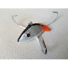 """Приманка - краб малый """"Серебряная рыбка"""" (3 крючка) авторский."""